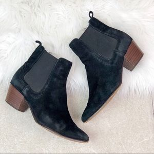 Sam Edelman Reesa Black Suede Ankle Booties